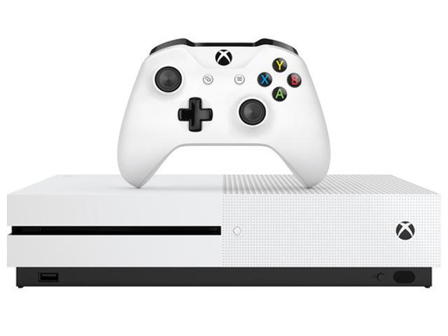 Microsoft Refurbished Xbox One S Bundle With Minecraft Favorites, 500 GB - White