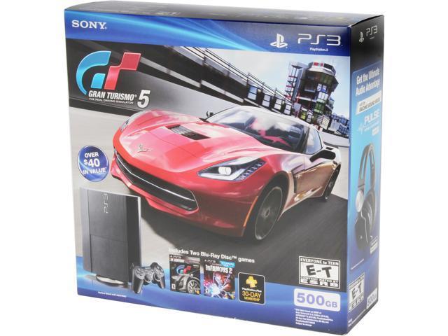 Sony PS3 500GB Legacy HW Bundle (CECH-4001C) - GT5+Infamous 2