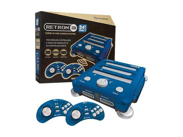 Hyperkin RetroN 3 Gaming Console 2.4 GHz Edition - NES / SNES / Gnensis - (Bravo Blue)