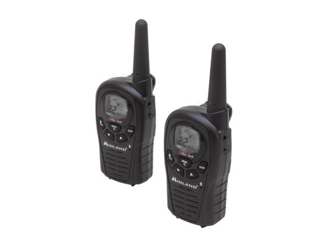 MIDLAND XT28VP 28-Mile Two-Way GMRS Radio Pair WITH Charger and Batteries