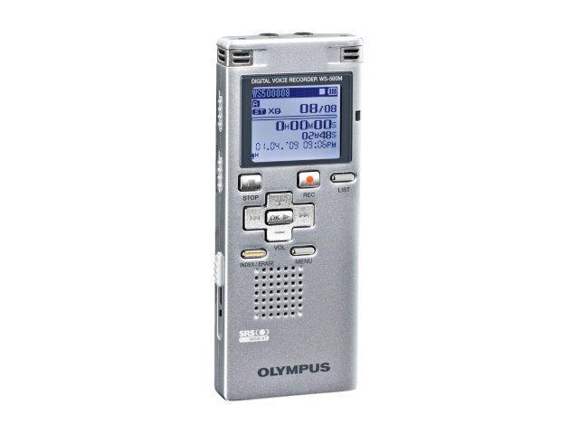 OLYMPUS WS-500M Silver Digital Voice Recorder