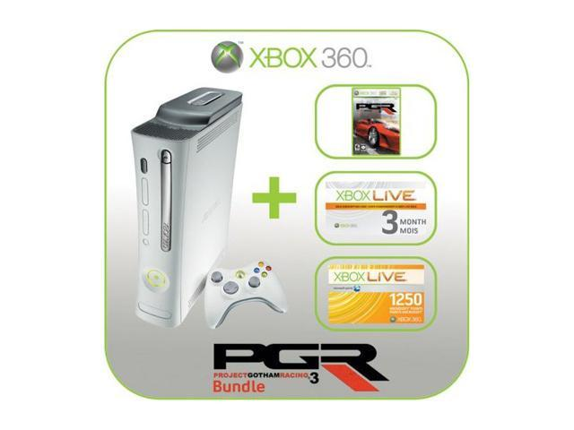 Microsoft Xbox 360 Premium Console with Project Gotham Racing 3 20 GB Hard drive White