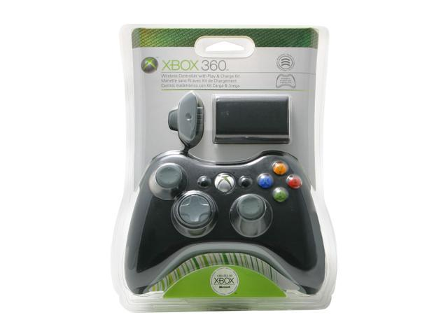 Microsoft Xbox 360 Wireless Controller Black and Play