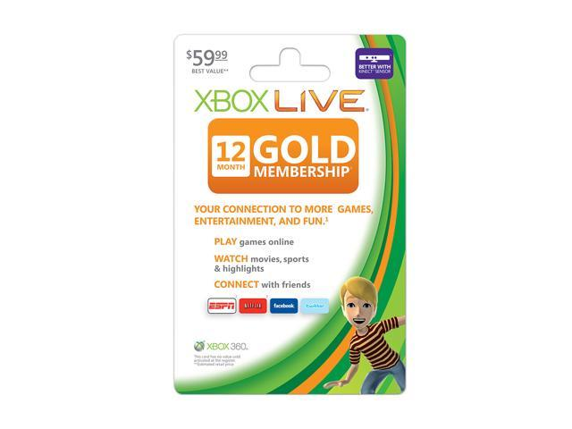 Microsoft XBOX 360 Live 12 Month Gold Card