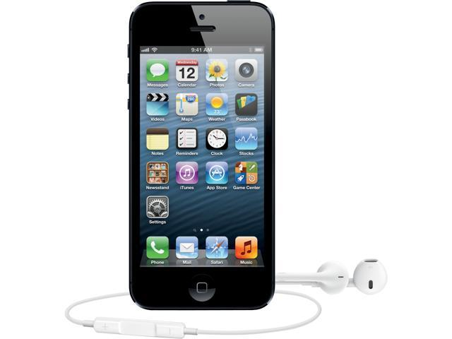 Unlocked AT&T Apple iPhone 5 Black & Slate 4G LTE GSM Smart Phone with 4