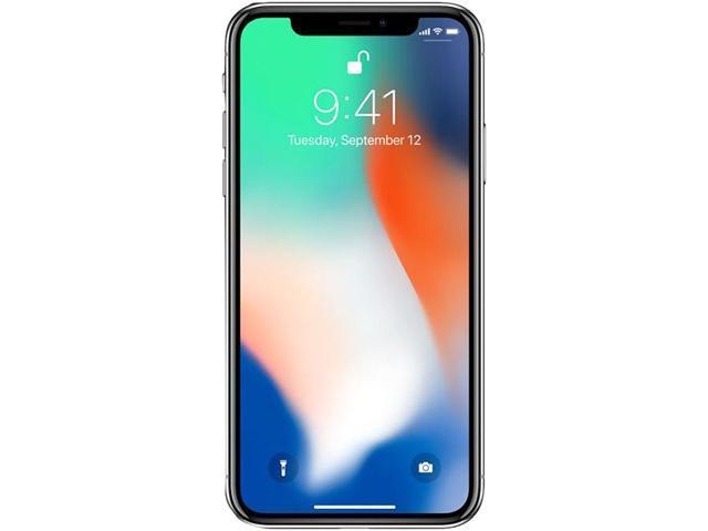 "Apple iPhone X 64GB 4G LTE Unlocked Cell Phone 5.8"" 3GB RAM Silver"