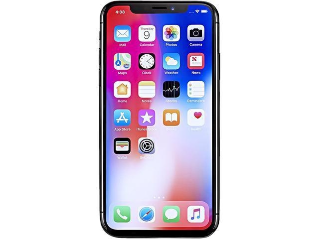 "Apple iPhone X 64GB 4G LTE Unlocked Cell Phone 5.8"" 3GB RAM Space Gray"