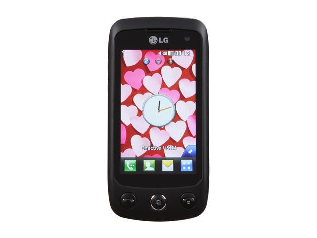 "LG Cookie Plus GS500 30MB Unlocked GSM Touch Screen Phone with 3.15MP Camera 3.0"" Black"