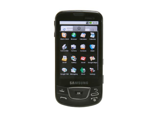 Samsung Galaxy Black 3G GSM Android unlocked cell phone with 8GB internal memory