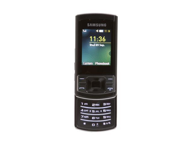 "Samsung Stratus C3050 15 MB Unlocked GSM Slider Phone with Video Camera 2.0"" Black"