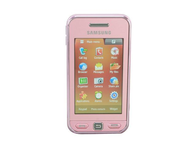 Samsung Star Pink Unlocked GSM Touch Screen Phone w/ 3.2MP ...