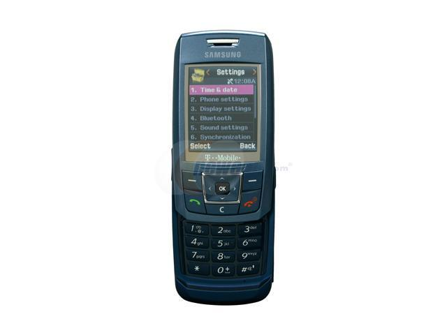 Samsung T429 Blue Unlocked GSM Slider Phone with Photo call