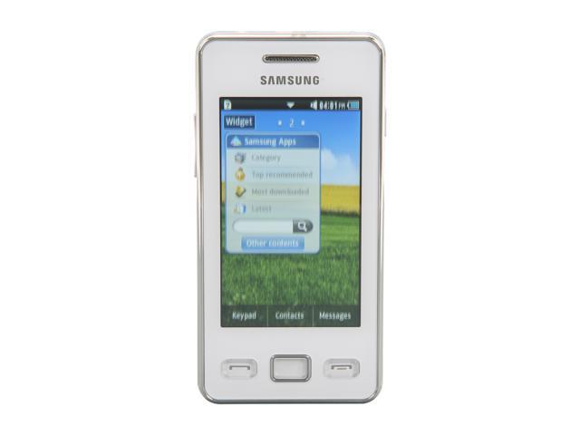 """Samsung Star II GT-S5260 30 MB Unlocked Cell Phone 3.0"""" White"""