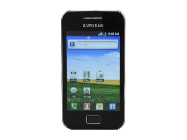 "Samsung Galaxy Ace GT-S5830M 158 MB storage 3G Unlocked Cell Phone 3.5"" 278 MB RAM Onyx Black"