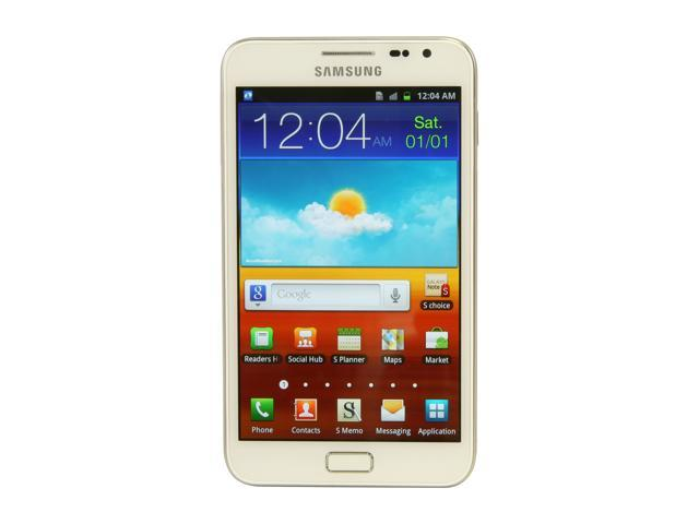 "Samsung Galaxy Note 16GB N7000 16GB storage, 1 GB RAM Unlocked GSM Smart Phone w/ Android OS 2.3 / 8 MP Camera 5.3"" White"