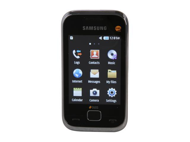 "Samsung Duos C3312 30 MB Unlocked Dual SIM Cell Phone 2.8"" Silver"
