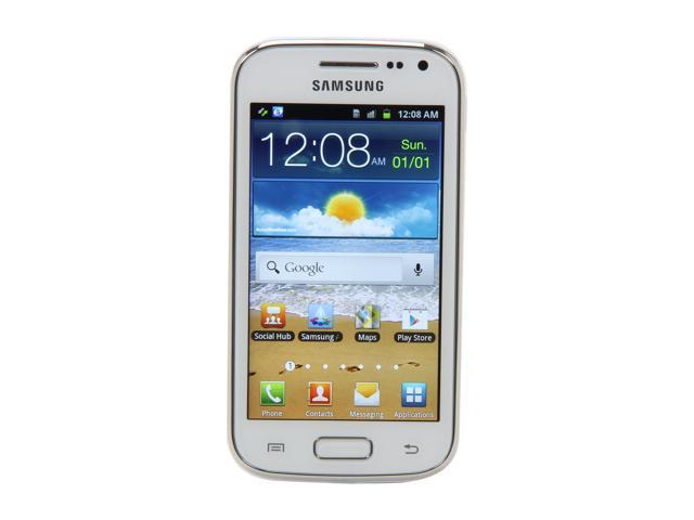 "Samsung Galaxy Ace 2 i8160 4 GB storage, 768 MB RAM Unlocked Cell Phone 3.8"" White"