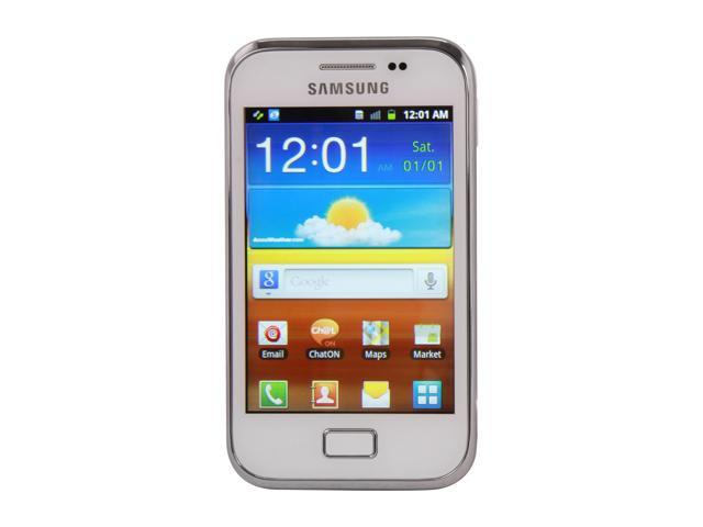 "Samsung Galaxy Ace Plus S7500 3 GB storage, 512 MB RAM Unlocked Cell phones 3.65"" White"