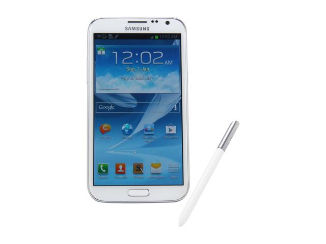 Samsung Galaxy Note II N7100 White Unlocked Cell Phone w/ 5.5