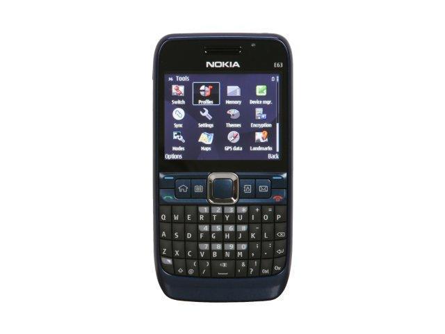 Nokia E63 Blue Nokia E63 Unlocked GSM...