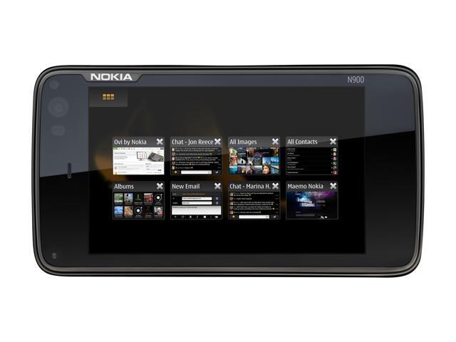 "Nokia N900 32 GB storage, 256 MB RAM Unlocked Cell Phone 3.5"" Black"
