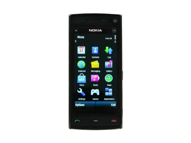 "Nokia X6 16GB Unlocked Cell phone 3.2"" Black"