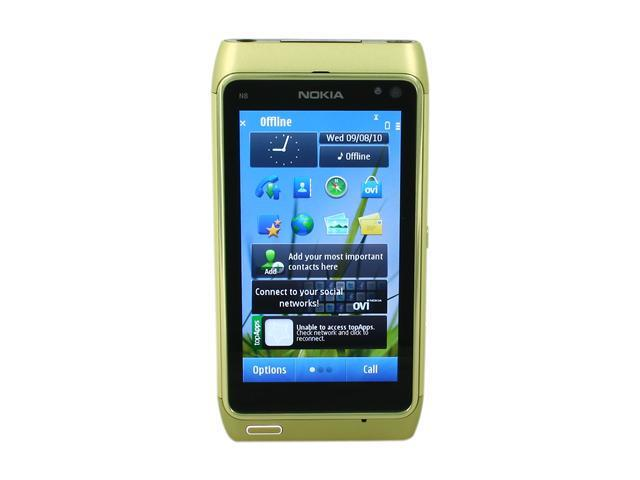 Nokia N8 Green 3G Unlocked GSM Smart Phone with 12MP Camera & AMOLED Touch Screen