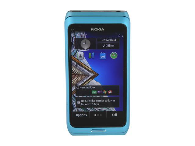 "Nokia E7 16 GB storage, 256 MB RAM, 1 GB ROM 16GB Unlocked GSM Smart Phone w/ 8MP Camera 4.0"" Blue"