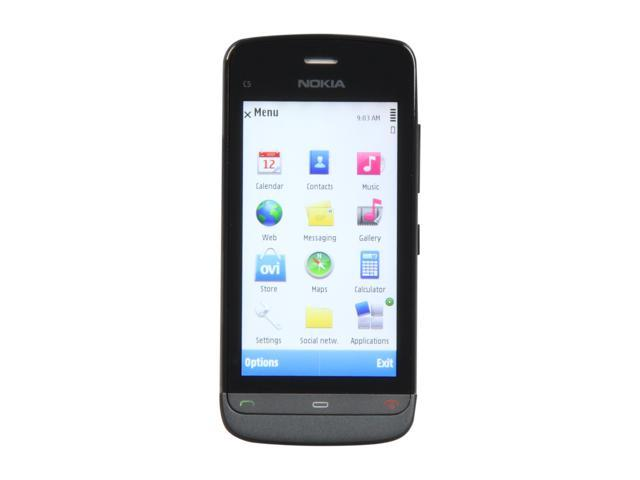 Nokia  Graphite Black Unlocked GSM Smart Phone with Wi-Fi / 3.2