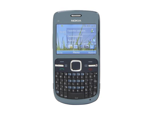"Nokia C3-00 55 MB, 64 MB RAM, 128 MB ROM Unlocked GSM Smart Phone w/ Full QWERTY Keyboard / Wi-Fi 2.4"" Slate Gray"