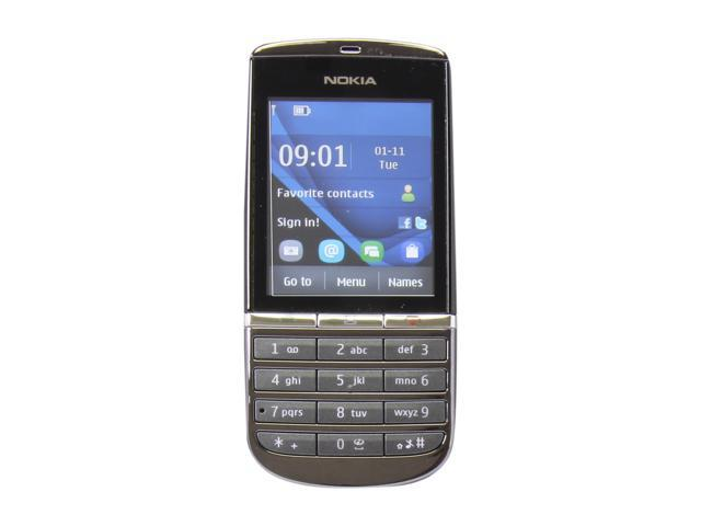 Nokia Asha 300 Graphite 3G Unlocked GSM Bar Phone / 5 MP Camera / 2.4