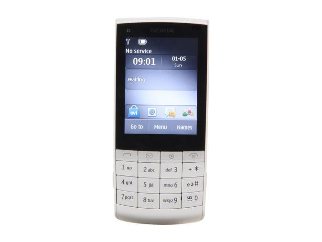 "Nokia Touch and Type X3-02 64 MB Unlocked GSM Touch Screen Phone w/ 5MP Camera / Wi-Fi 2.4"" White"