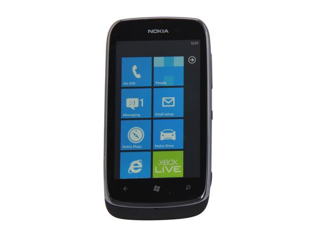 "Nokia Lumia 610 Black 8GB Unlocked GSM Windows Smart Phone w/ Wi-Fi / Bluetooth / 5 MP Camera / 3.7"" Display"