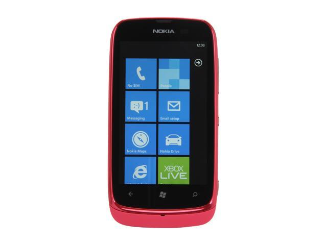 Nokia Lumia 610 Magenta 3G Unlocked GSM Windows Smart Phone w/ Wi-Fi / Bluetooth / 5 MP Camera / 3.7