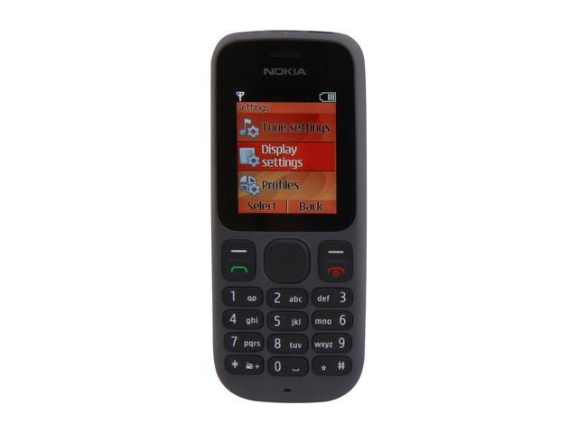 Nokia 100 Black Unlocked GSM Bar Phone w/ Flashlight / 1.8
