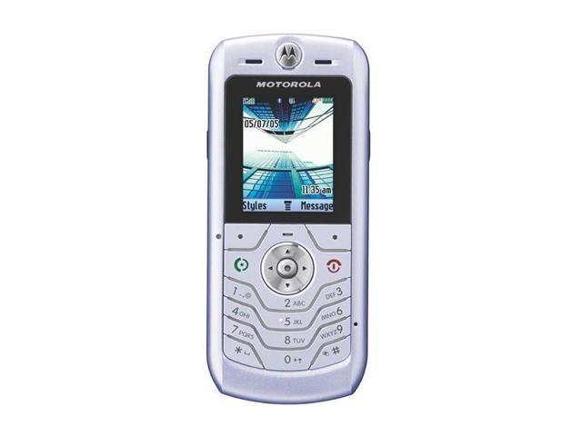 MOTOROLA L6 Silver Unlocked Cell Phone with no Manufacturer warranty