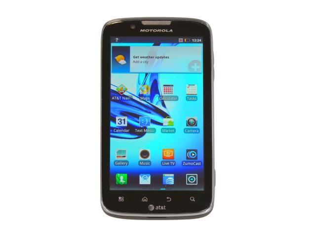 "Motorola Atrix 2 8 GB storage, 1 GB RAM Unlocked GSM Smart Phone w/ Android OS 2.3 / 8 MP Camera 4.3"" Black"