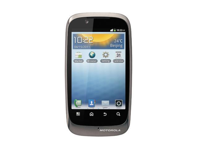 Motorola XT532 Silver Unlocked Dual SIM GSM Android Cell Phone