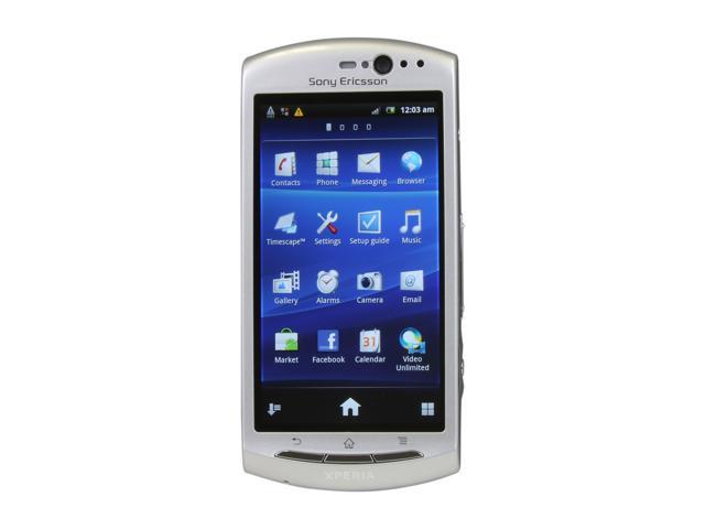 Sony Ericsson Xperia neo V Silver 3G Unlocked GSM Android Phone w/ Android OS 2.3 / Wi-Fi / 3.7