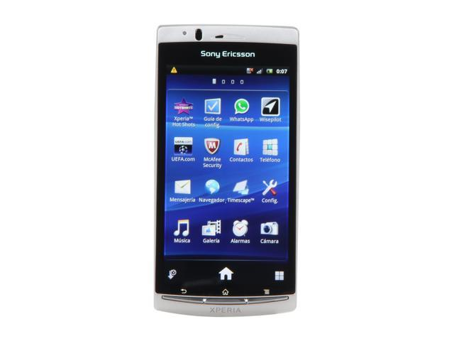 Sony Ericsson Xperia Arc S Silver 3G Unlocked GSM Android Smart Phone w/ Android OS v2.3 / 4.2