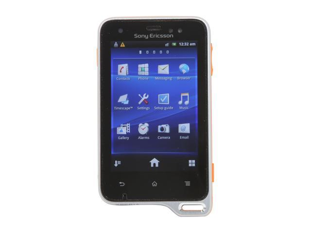 Sony Xperia active Orange / Black Unlocked Cell Phone w/ Android 2.3 / 3.0