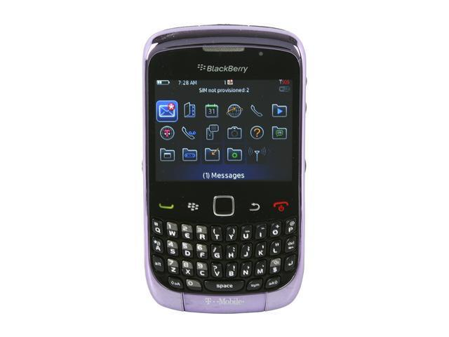 "BlackBerry Curve 3G 9300 256 MB ROM Unlocked GSM Smart Phone with Wi-Fi 2.46"" Violet"
