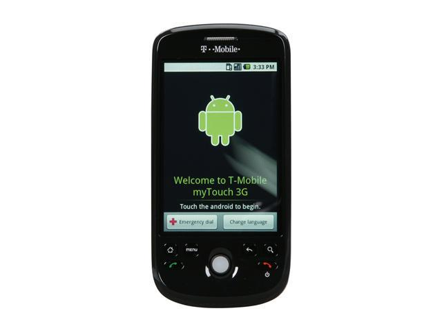 "HTC myTouch 3G ROM: 512 MB&#59; RAM: 192 MB Unlocked GSM Smart Phone with Android OS/ Video Messaging / Google Talk 3.2"" Black"