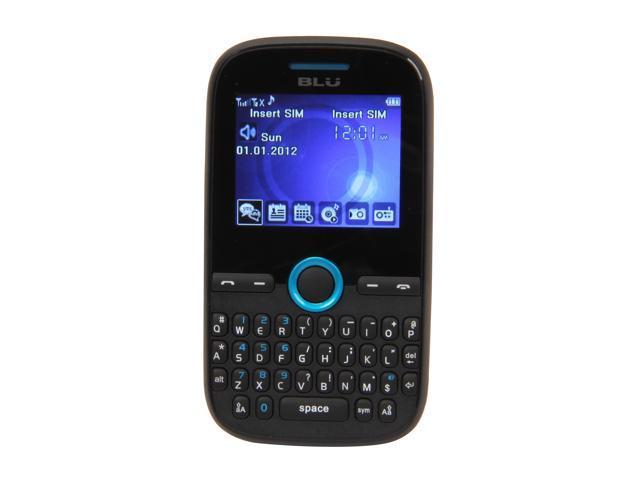 """Blu Deco Mini 64 MB ROM, 32 MB RAM Unlocked Dual SIM Cell Phone 2.0"""" Blue"""