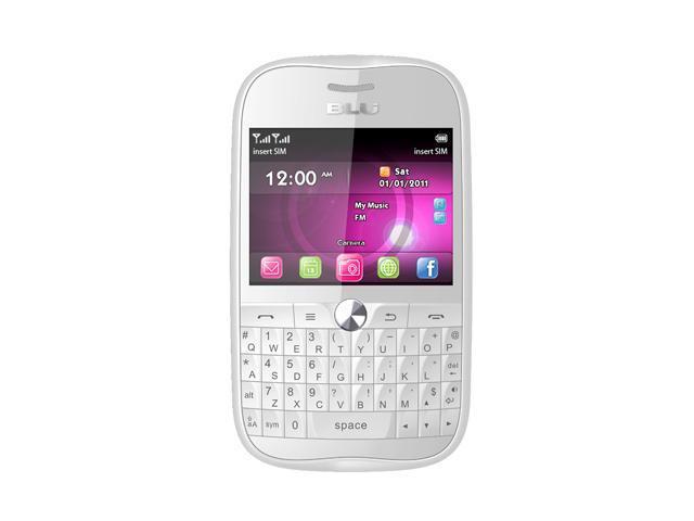 Blu Deco Pro Q360 White Touch Screen QWERTY Keyboard Wi-Fi 3.2 MP Camera Bluetooth Dual-SIM Unlocked GSM Cell Phone