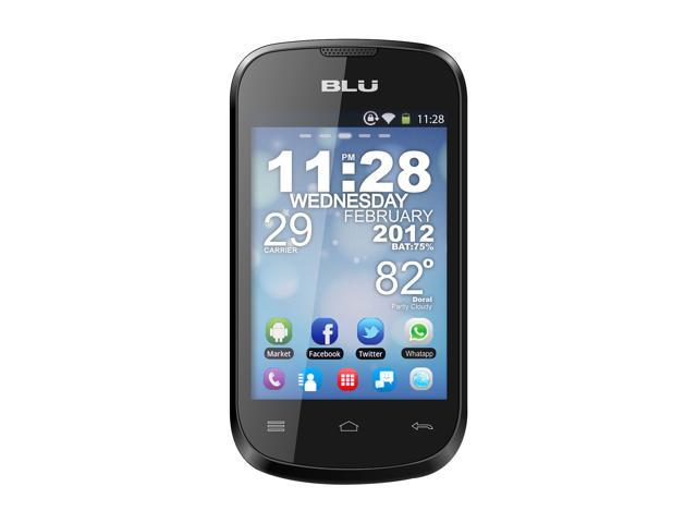 BLU Dash 3.5 Black 3G Unlocked Dual SIM Phone w/ 1GHz Processor, Android 2.3 / 3G HSDPA / High Resolution LCD / Wi-Fi / GPS
