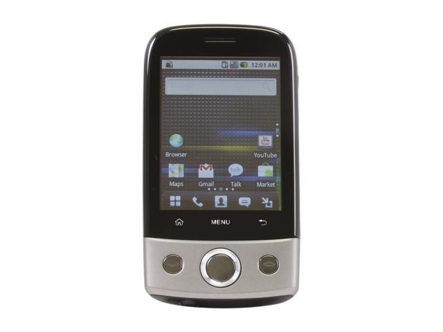 "Huawei U8100 Unlocked GSM Android Smart Phone w/ Android OS 2.1 / Wi-Fi 2.8"" Black / Silver"