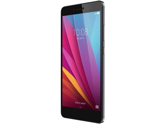 Honor 5X - Metal Body, Fingerprint Sensor, 5.5 Inch, 1080p FHD Display, 4G LTE, Unlocked GSM Smartphone - USA Warranty - 16GB Gray