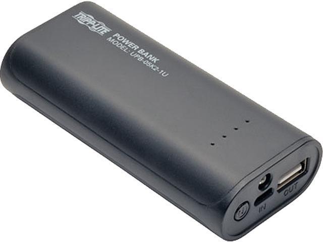 Tripp Lite Black 5200 mAh Portable Mobile Power Bank USB Battery Charger with LED Flashlight UPB-05K2-1U