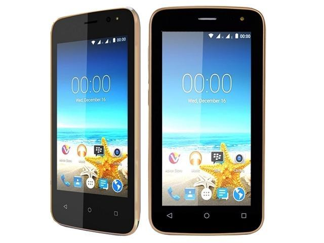 Maxwest Nitro 4 4G Quad-Core Android Unlocked Dual-SIM Smartphone, Gold